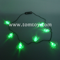 halloween led light up spider necklace tm041-086