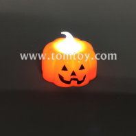 halloween led pumpkin tea candle tm05503