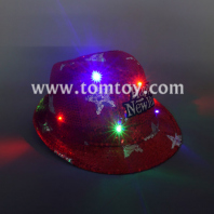happy new year led fedora hat tm03145-rd