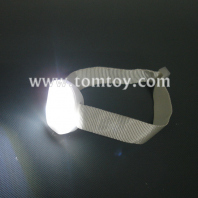 high visibility running cycling adjustable reflective led flashing fabric armband tm02281