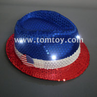 led american flag fedora hats tm000-049-rwb