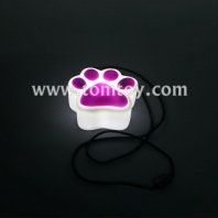 led bears paw necklace tm00078