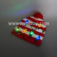 led bulb knitted hat tm05882