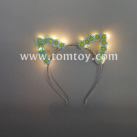 led cat ear daisy headband tm02670