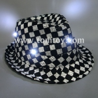 led chequering fedora hats tm000-049-chk