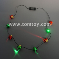 led christmas bells necklace tm03651