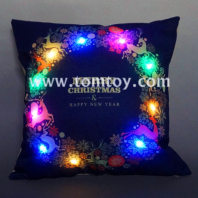 led christmas navy blue cushion tm03263