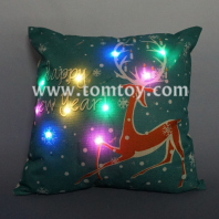 led christmas reindeer cushion tm03260