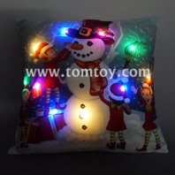 led christmas snoman cushion tm03256