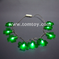 led clover necklace with 9 green lights tm00638