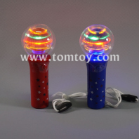 led colorful american flag spinning wand tm02920