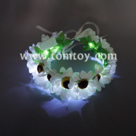 led daisy chain wreath headband tm02662