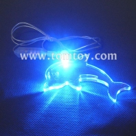 led dolphin pendant necklace tm000-066-dolphin-bl
