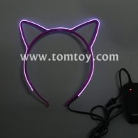 led el wire cat ears headbands tm109-017-pur