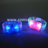 led flashing bracelet voice activated sound control wristband bangle for disco pub bar party tm00999