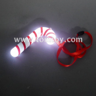 led flashing candy cane necklace tm06477