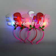 led flashing christmas headband reindeer antlers tm02735