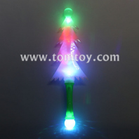 led flashing christmas tree wand with prism ball tm04024