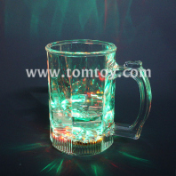 led flashing clear beer glass set tm01872