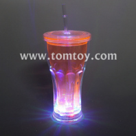 led flashing coca cola drinking gup with lid and straw tm03199