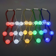led flashing disco ball necklace tm02722