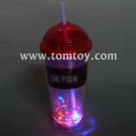 led flashing drink cup with straw tm02317