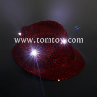 led flashing fedora hat tm03144-rd