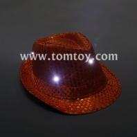 led flashing fedora hats tm03144-or