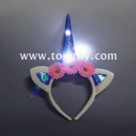 led flashing light unicorn headbands tm3209