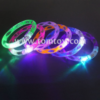 led flashing light up helix bubble party favors bracelets wristbands tm02528