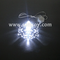 led flashing necklace snowflake tm-061