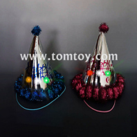 led flashing paper cone birthday party kids hat tm02956