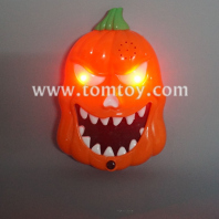 led flashing pumpkin doorbell scary sounds tm277-014
