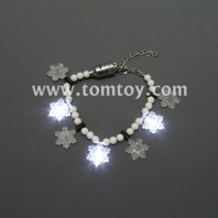 led flashing snowflake bracelet tm01100