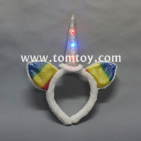 led flashing unicorn headband tm03042