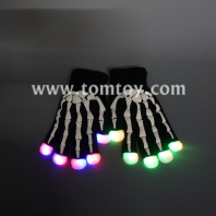 led gloves with hand bone printing tm04870