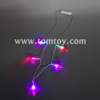 led halloween bat necklace tm05593