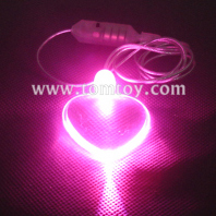 led heart pendant necklace tm000-066-heart-pk