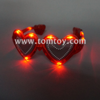 led heart sunglasses - red tm250-002