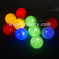 led knitted ball light string tm04436