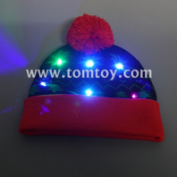 led knitted hat with rolled edge tm03873