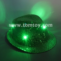 led light sequin fedora hat tm03144-gn