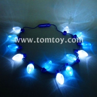 led light up christmas bulb necklace party favors tm01339