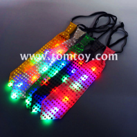 led light up colorful sequin tie tm02960