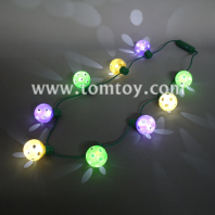 led light up disco ball necklace tm00493