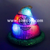 led light up emoji-icon poop hat tm03183-ygp