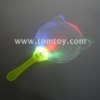 led light-up flashing multi-color flat hand fan tm02972