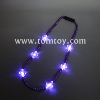 led light up fleur de lis necklace tm00714-pur