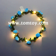 led light up garland with flowers tm02955
