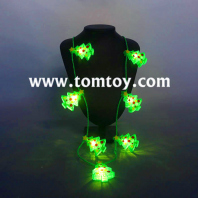 led light up glow christmas tree necklace tm03082